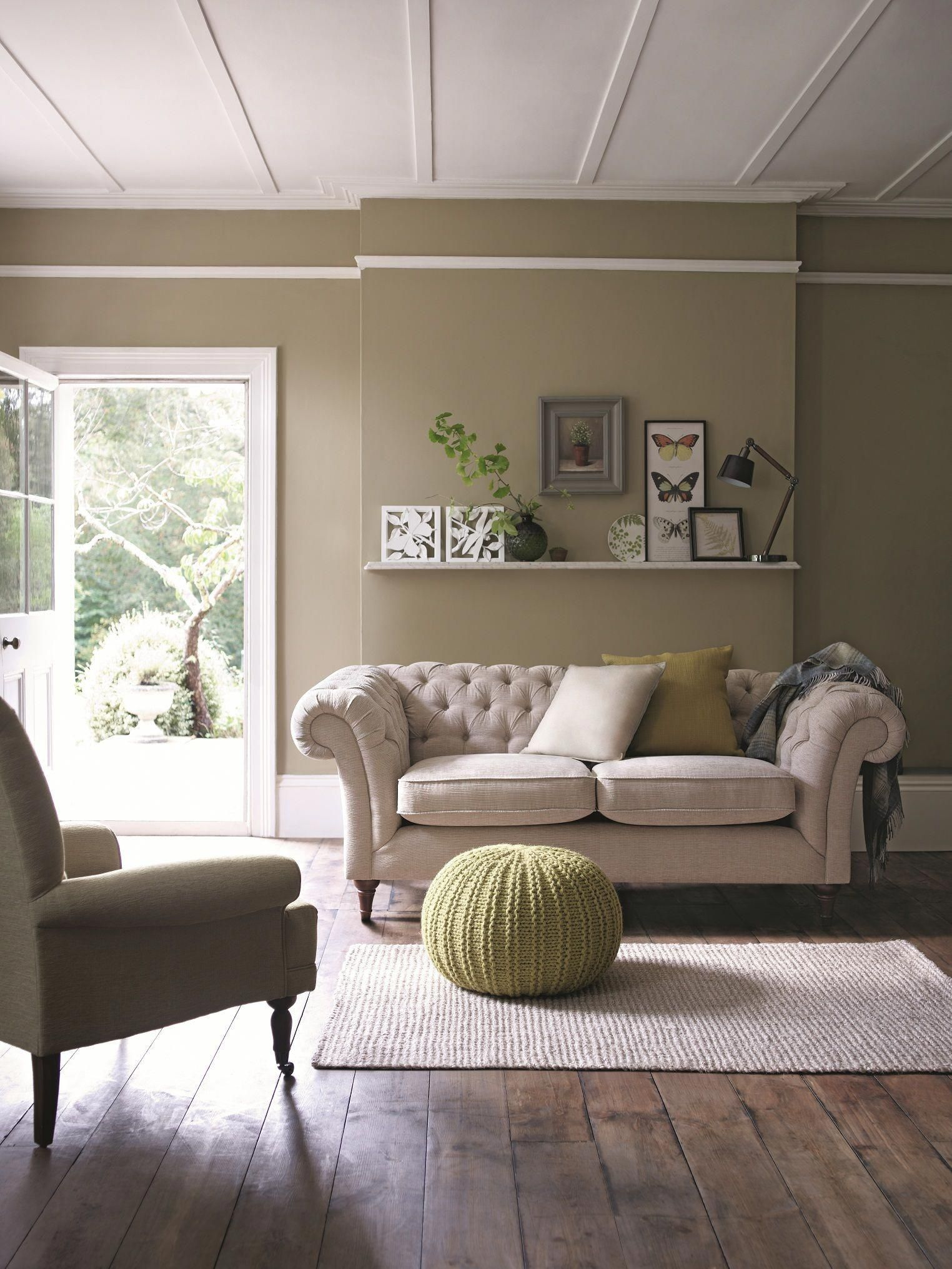 Decorate Your Living Room With Neutral Sofas And Inject Green
