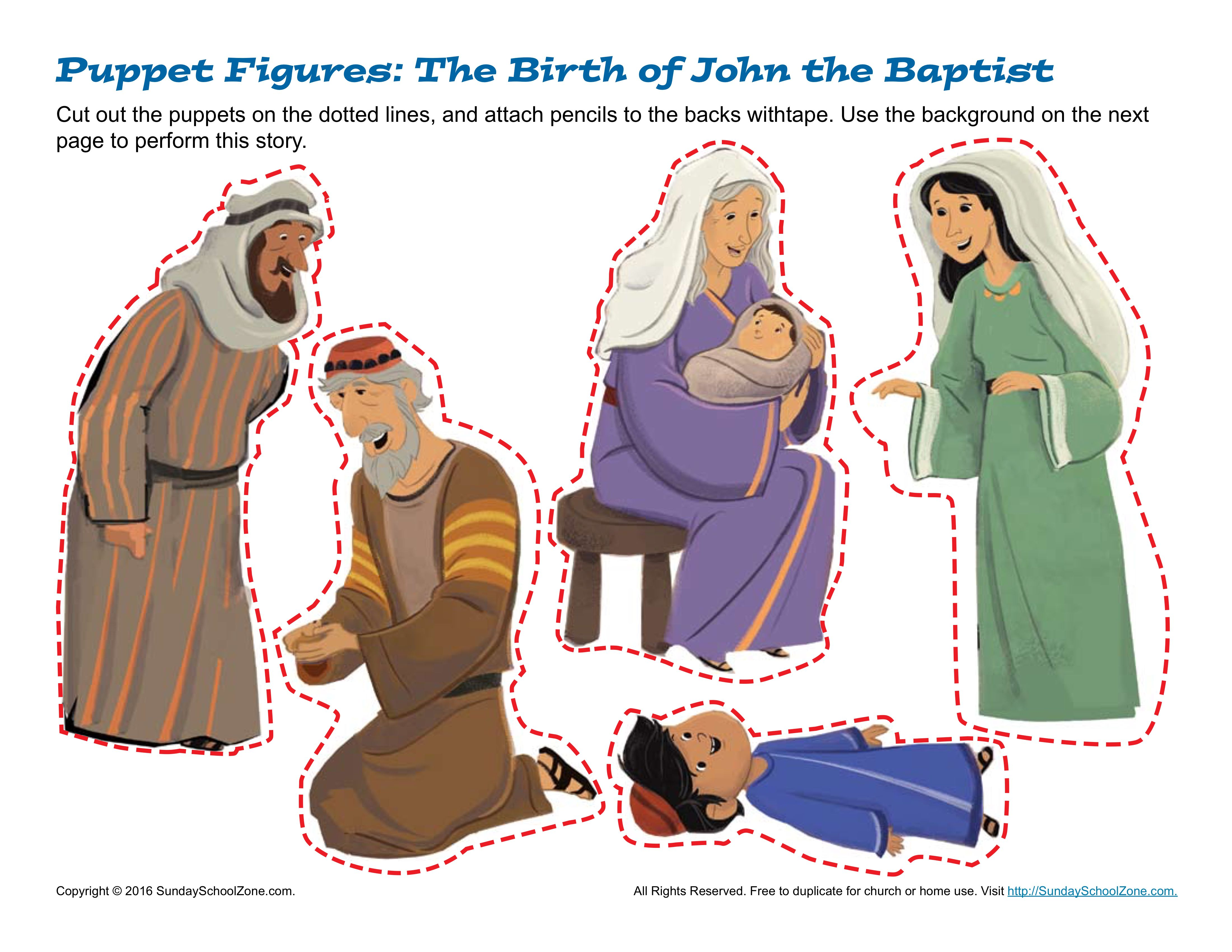 The birth of john the baptist puppets children 39 s bible for John the baptist craft for kids