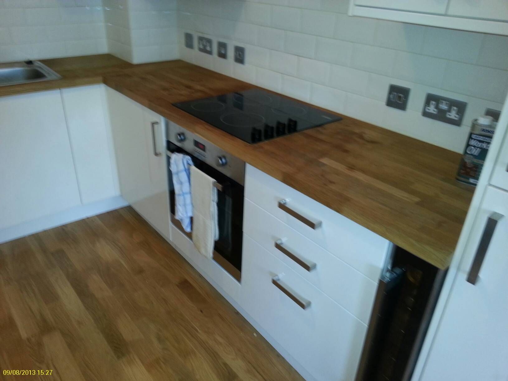 white kitchen wooden worktop Google Search Lounge to