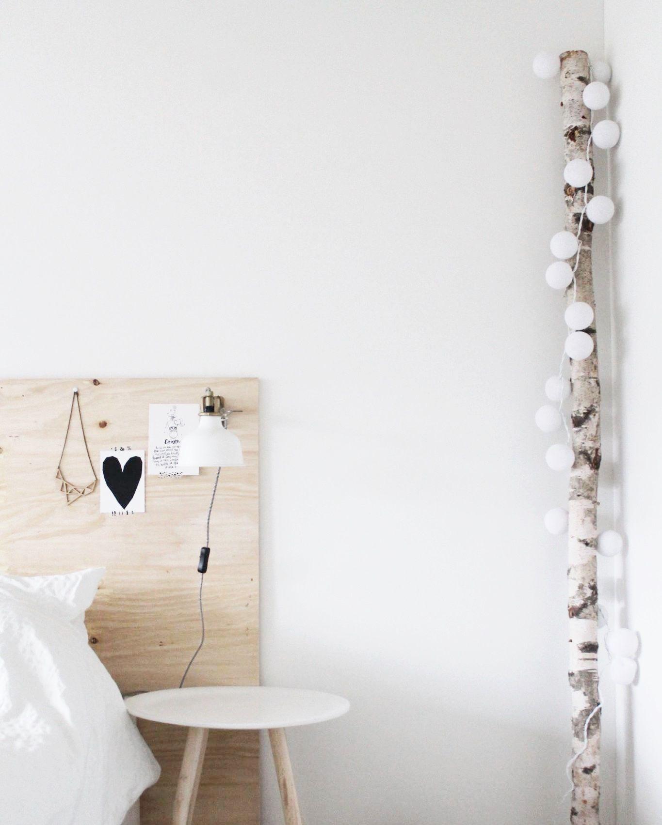Weiae Wande Lichterkette Schlafzimmer Lichterkette: Birke Und Lichterkette...genial