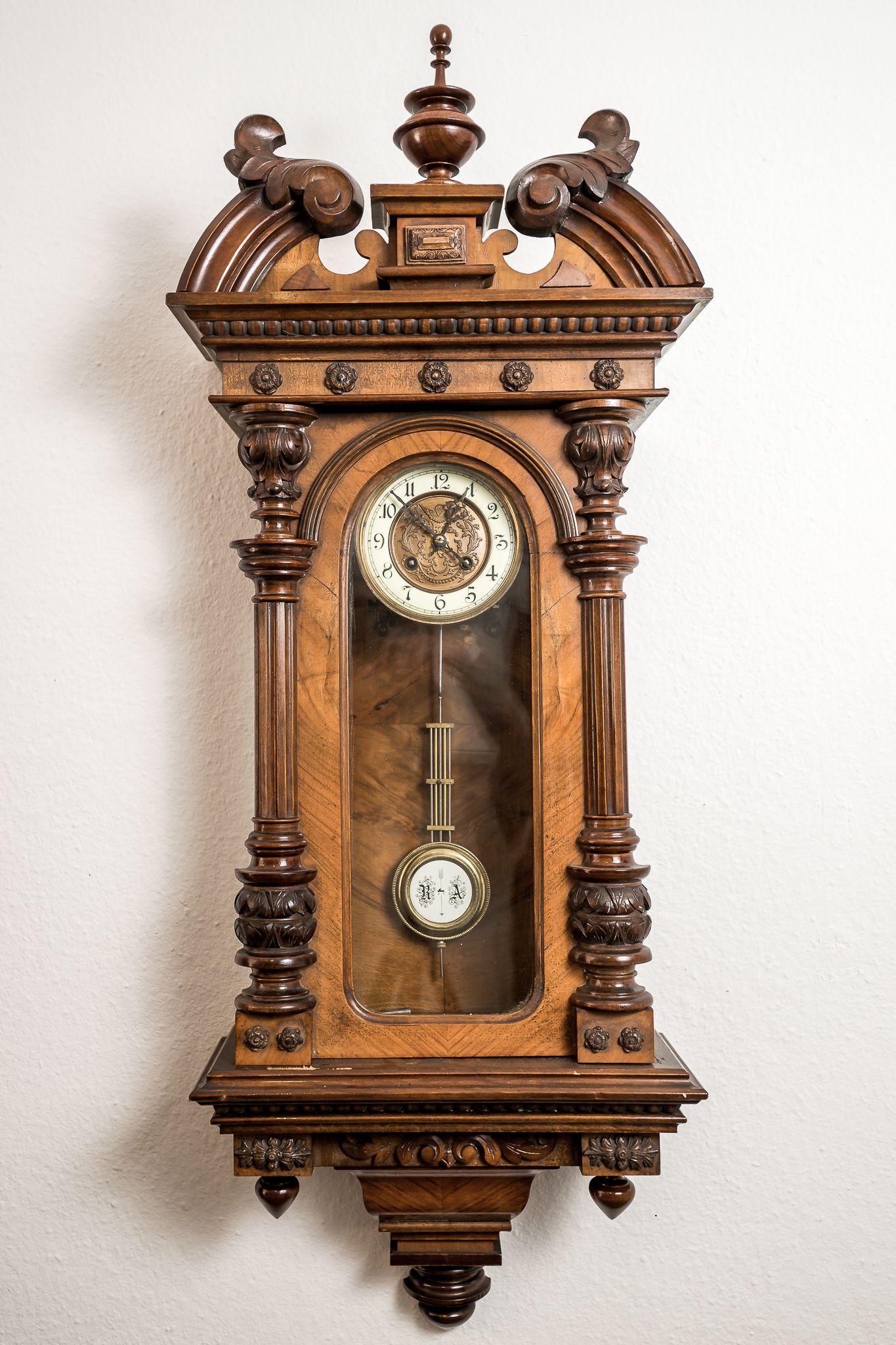 Uhren Stilvolle Gründerzeit Antiquitäten Vintage Wall Clock Vintage Clock Antique Clocks