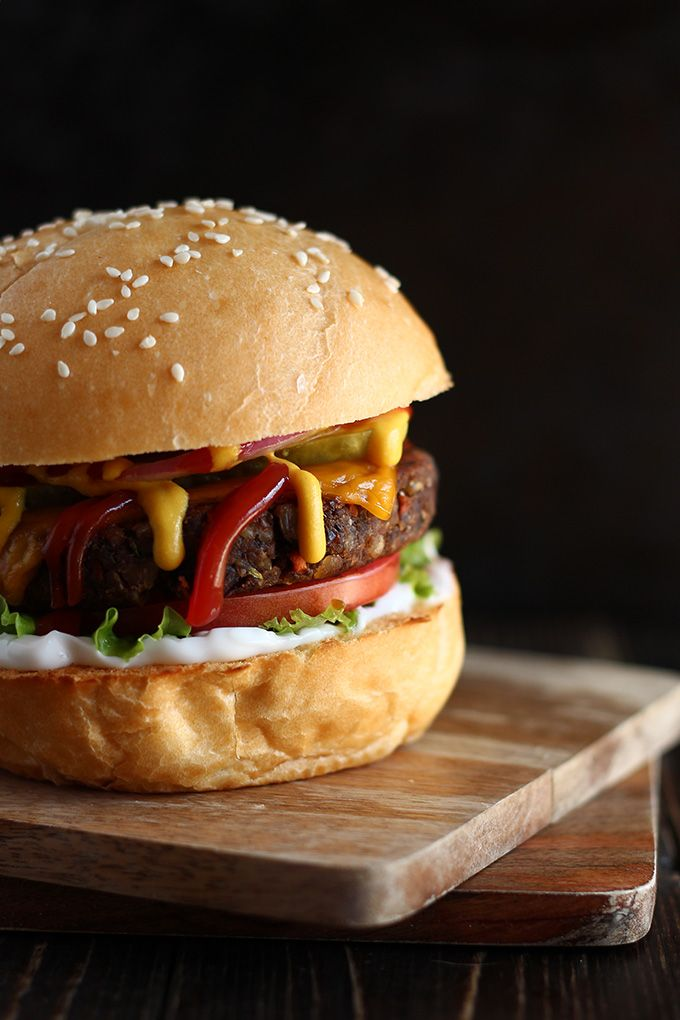 Vegan Mushroom Black Bean Burgers I Love Vegan Recipe Black Bean Burgers Bean Burger Vegan Veggie Burger