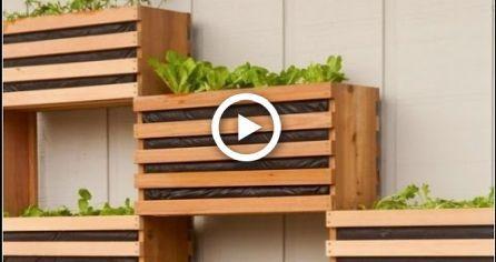 Make a Modern SpaceSaving Vertical Vegetable Garden  Make a Modern SpaceSaving Vertical Vegetable Garden
