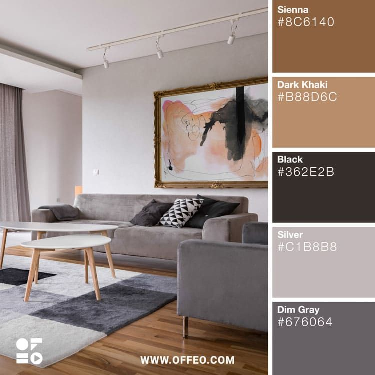 20 Modern Home Color Palettes To Inspire You Offeo Color Palette Living Room Interior House Colors Color Palette Interior Design