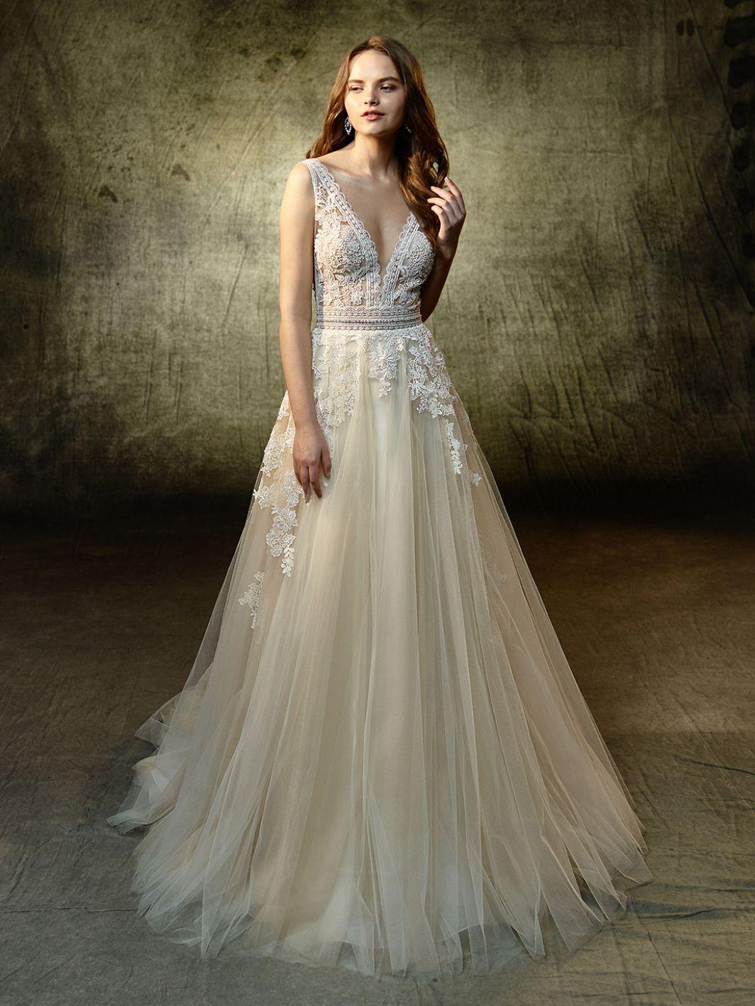 Lace wedding dress ivory january 2019 Lavender FrontCollection name   Wedding u Engagement