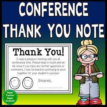 Conference Thank You Note With Images Parents As Teachers