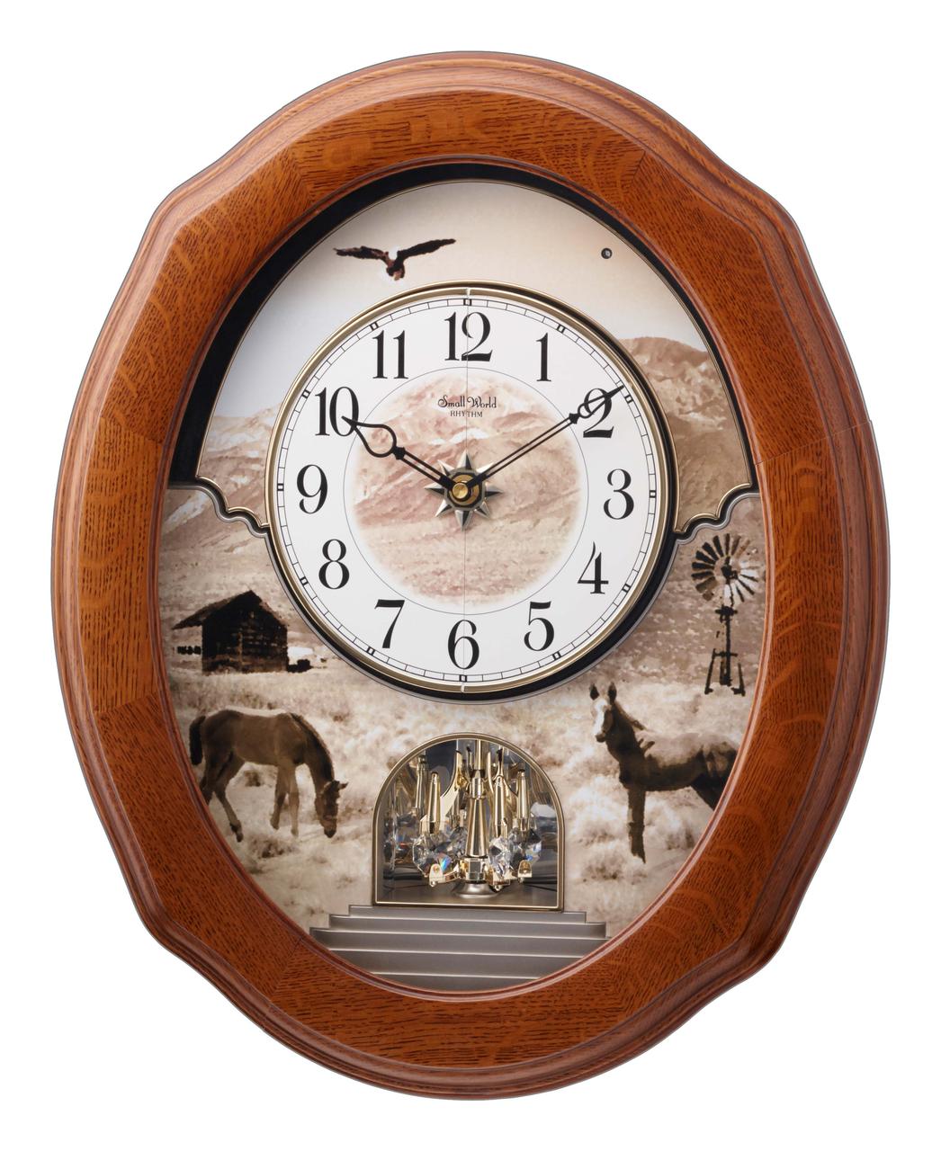 Rhythm American Prairie Rhythm 4mh860wu06 Wall Clock Small Wall Clock Clock