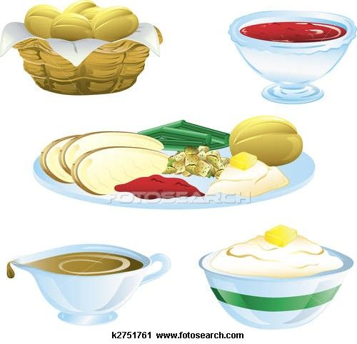 36++ Thanksgiving meal clipart info