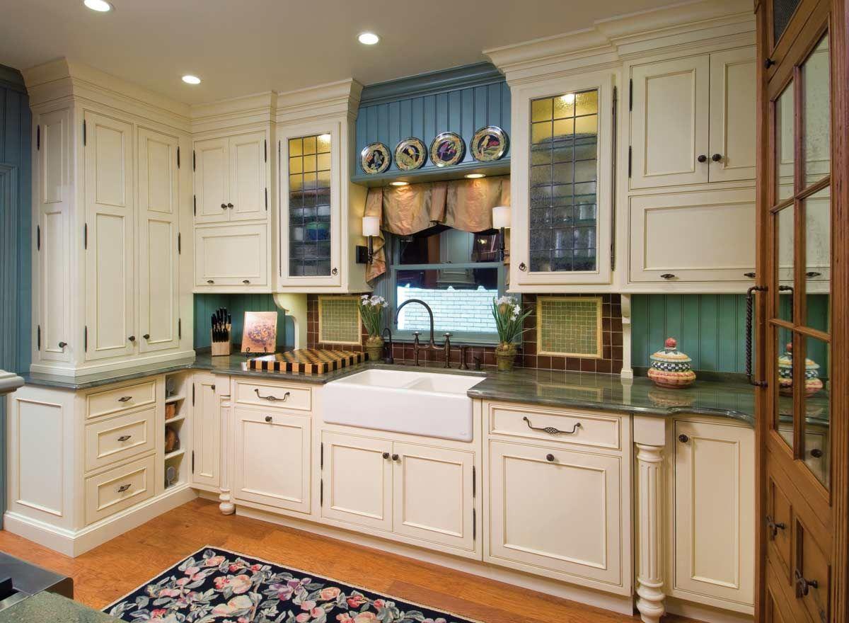Teal Beadboard In Small White Kitchen Kitchen Design Kitchen Design Styles Kitchen Design Small