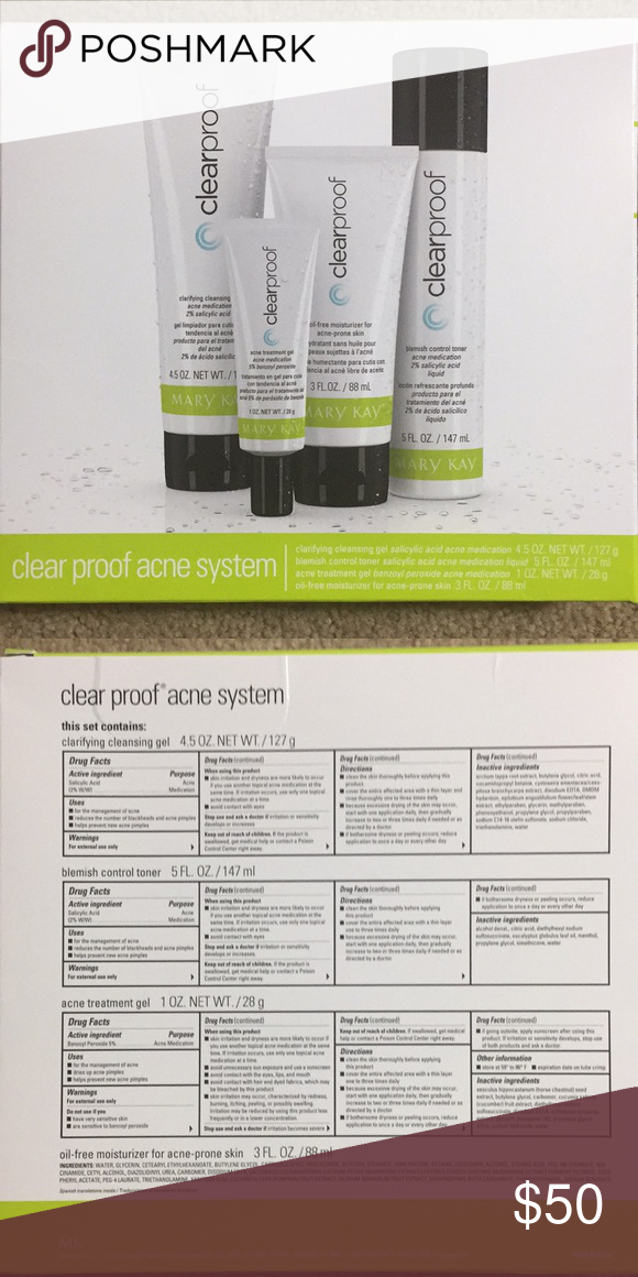 Mary Kay Clear Proof Acne System Set Includes Clarifying