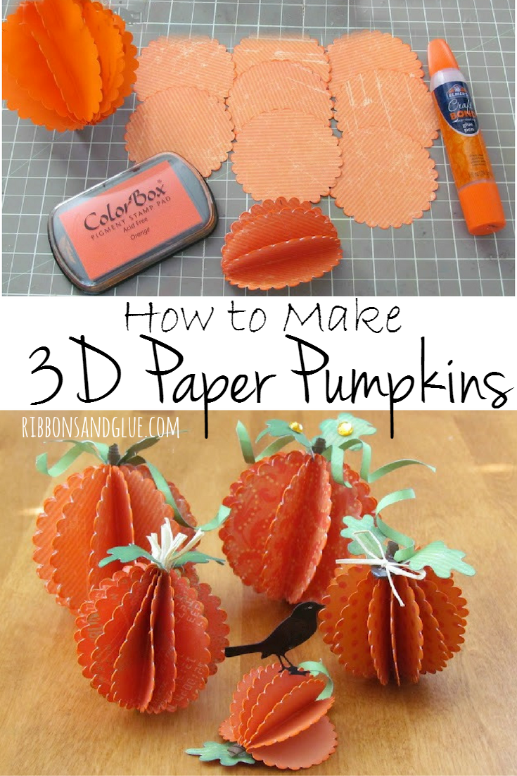 How To Make Pumpkins Out Of Paper Use As Fall Decorations All You Need Is Scallop Circles And Glue