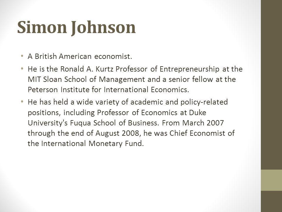Simon Johnson Mit Resume - Specialist\u0027s opinion Baseball Pinterest