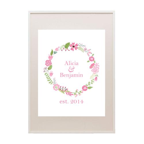 free printable floral wreath monogram sign printable weddings