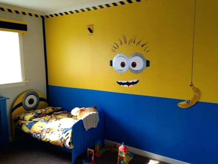 47 Minion Room Decor With Wall Sticker And Bedding Minion Room