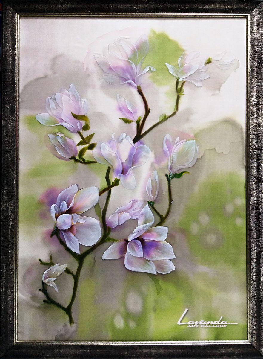 Nezhnost Tenderness Magnolia Blossom Painting Art