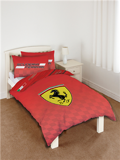 Ferrari Single Duvet Cover Scuderia Reversible