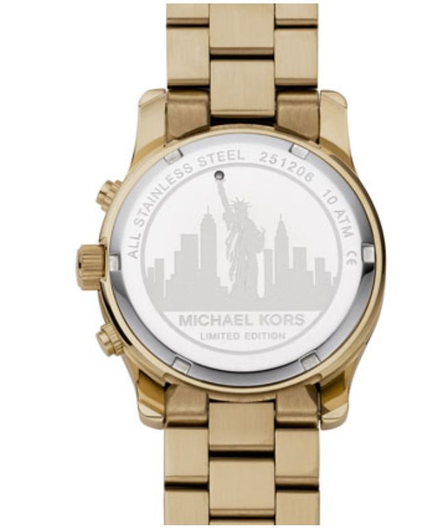 66baf490c614 Back of Michael Kors limited edition New York watch