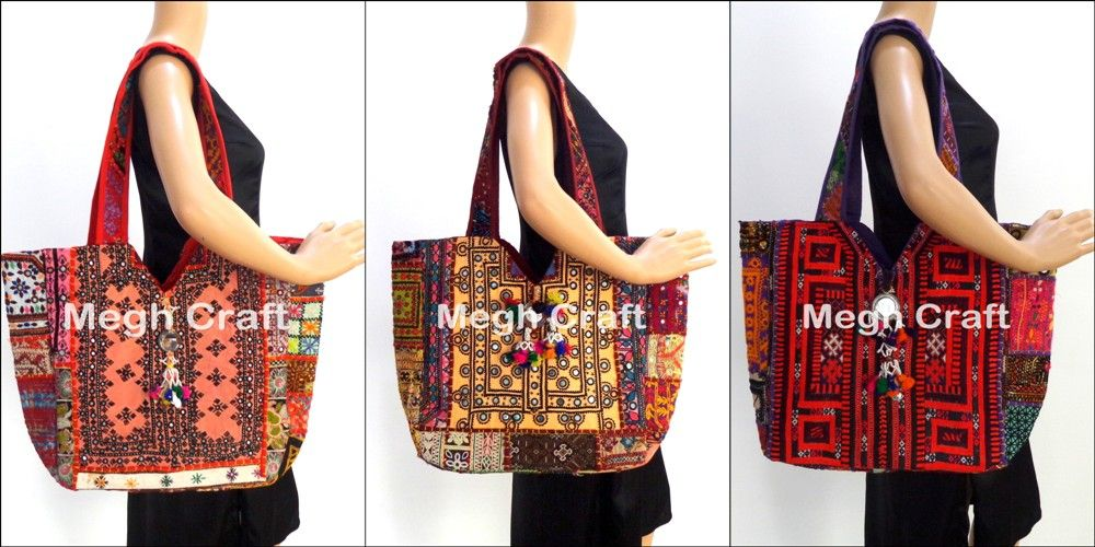 50b6e3b39e Kutch Embroderied Mirror Work Handbag-wholesale Patch Work Clutch Purse-vintage  Cotton Banjara Handbag
