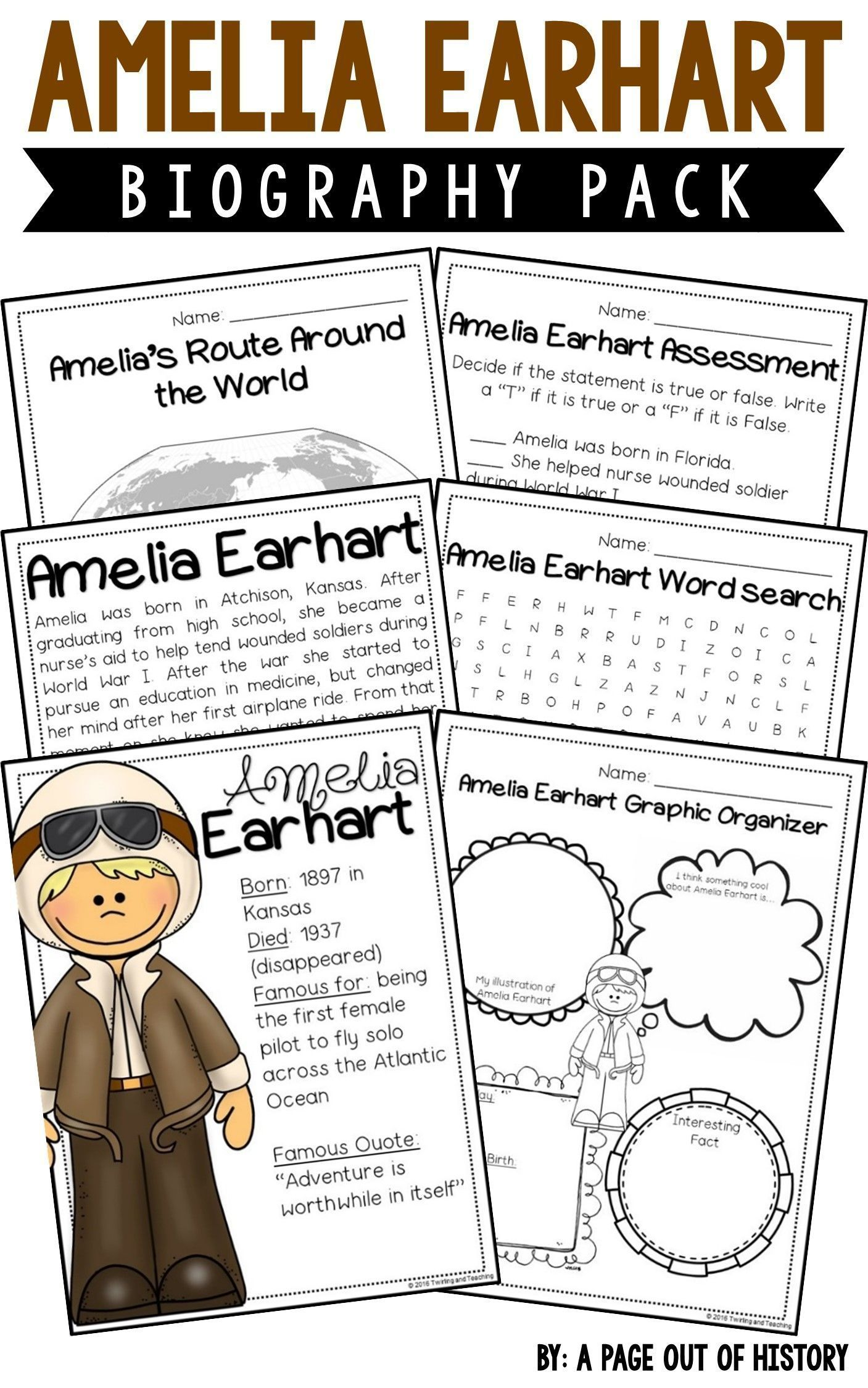Amelia Earhart Biography Pack Women S History