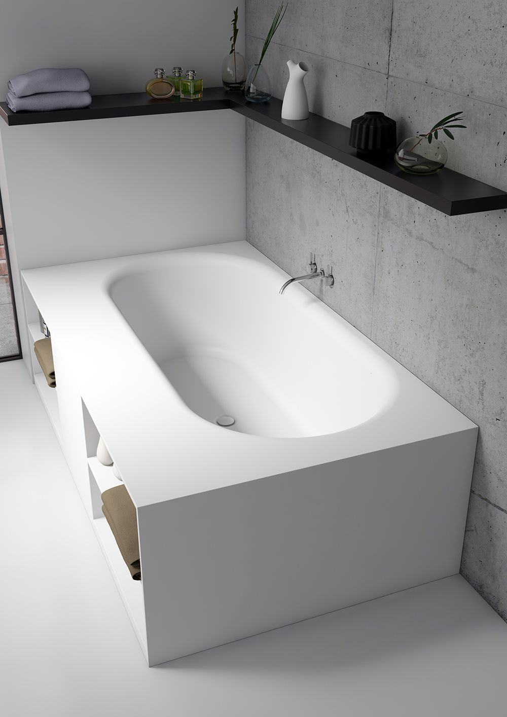 RIHO Burgos bathtub in Solid Surface | Solid Surface - Bathroom ...