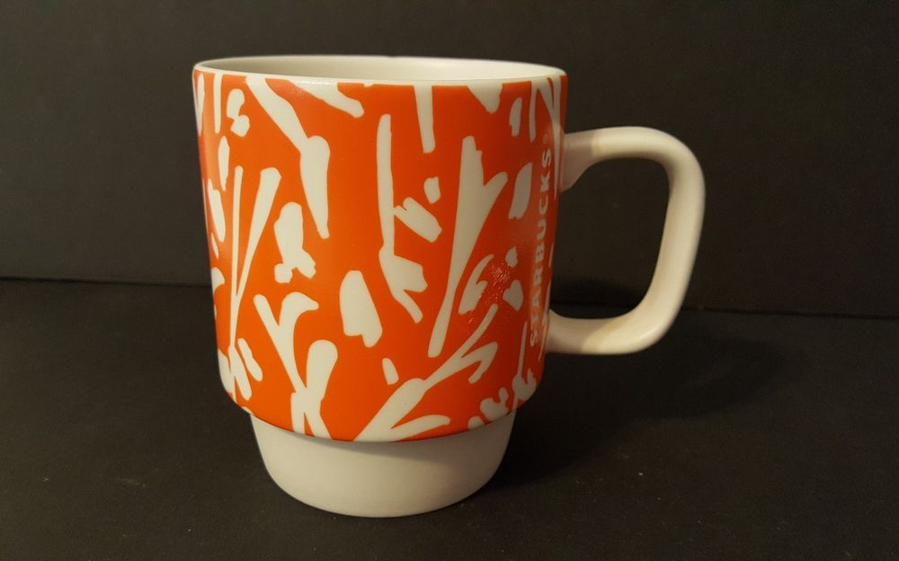 Starbucks 2016 Orange Fl 12 Ounce Coffee Tea Mug