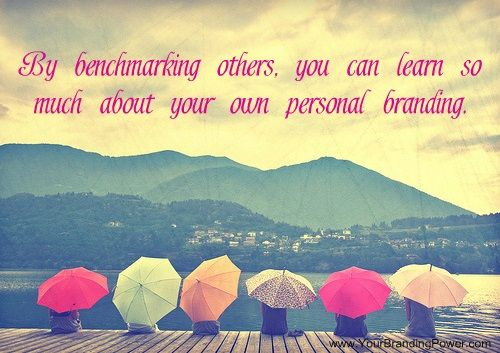 By benchmarking others, you can learn so much about your own personal branding. #personalbranding