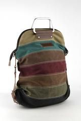 Ladies Soft Pastel Striped Canvas Handbag – Bourbon & Boots