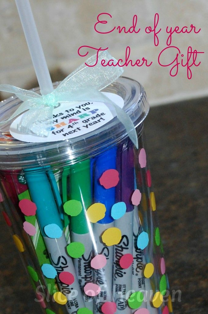 """End of Year Teacher Gift - """"Thanks to you, my mind is SHARP for 4th grade next year!"""""""