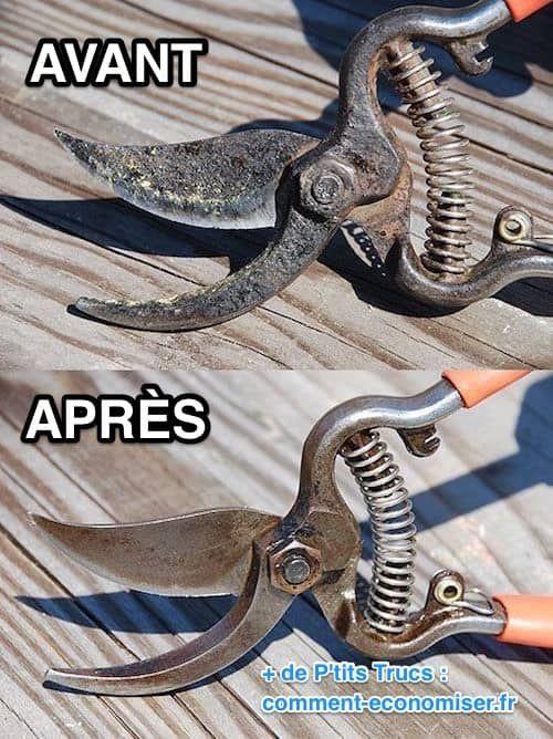3 astuces super efficaces pour liminer la rouille facilement bricolage outils de jardin - Astuce bricolage jardin ...