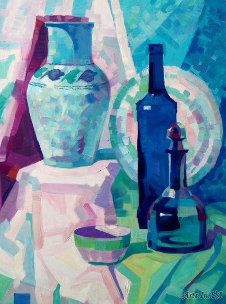 Натюрморт с синей бутылкой - Ярошевич Анастасия