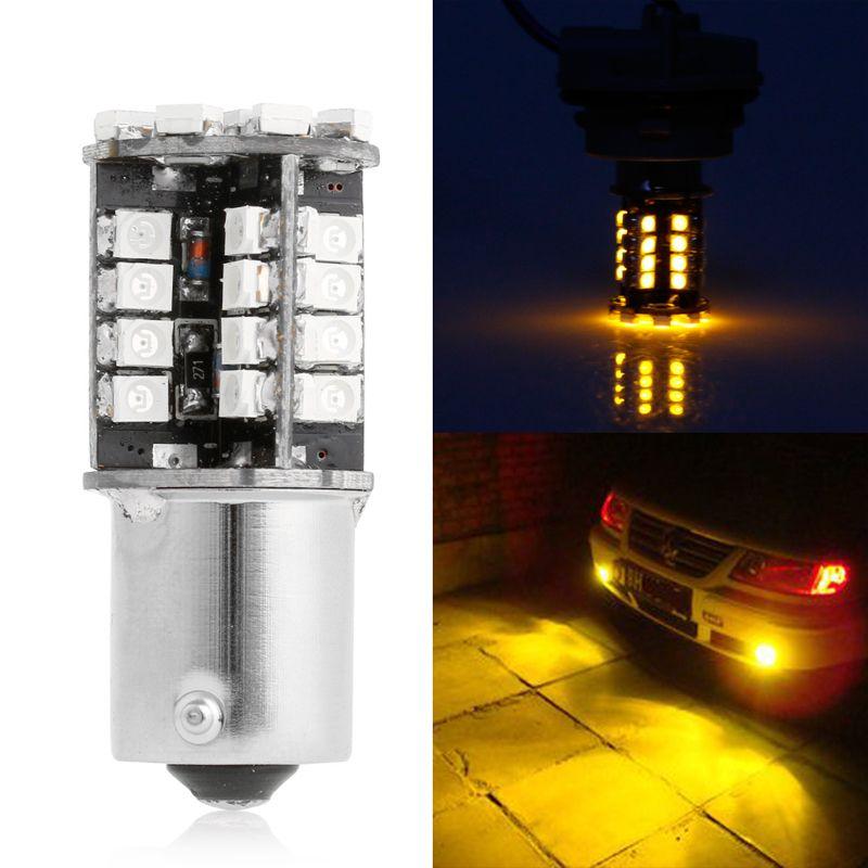 12v Dc 1156 3528 44 Smd Led Brake Light Lamp Bulb Canbus Error Free Amber New C45 Lamp Bulb Lamp Light Car Lights