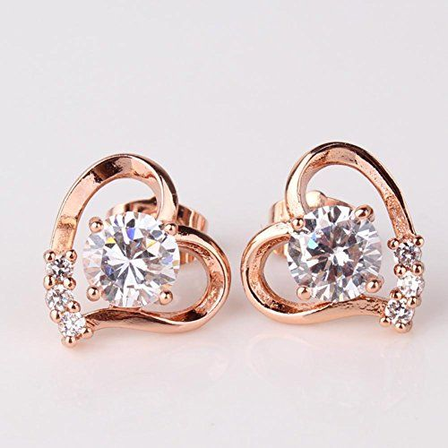 Linda Collection Fashion Jewelry 18k Rose Gold Plated Blue Crystal Set