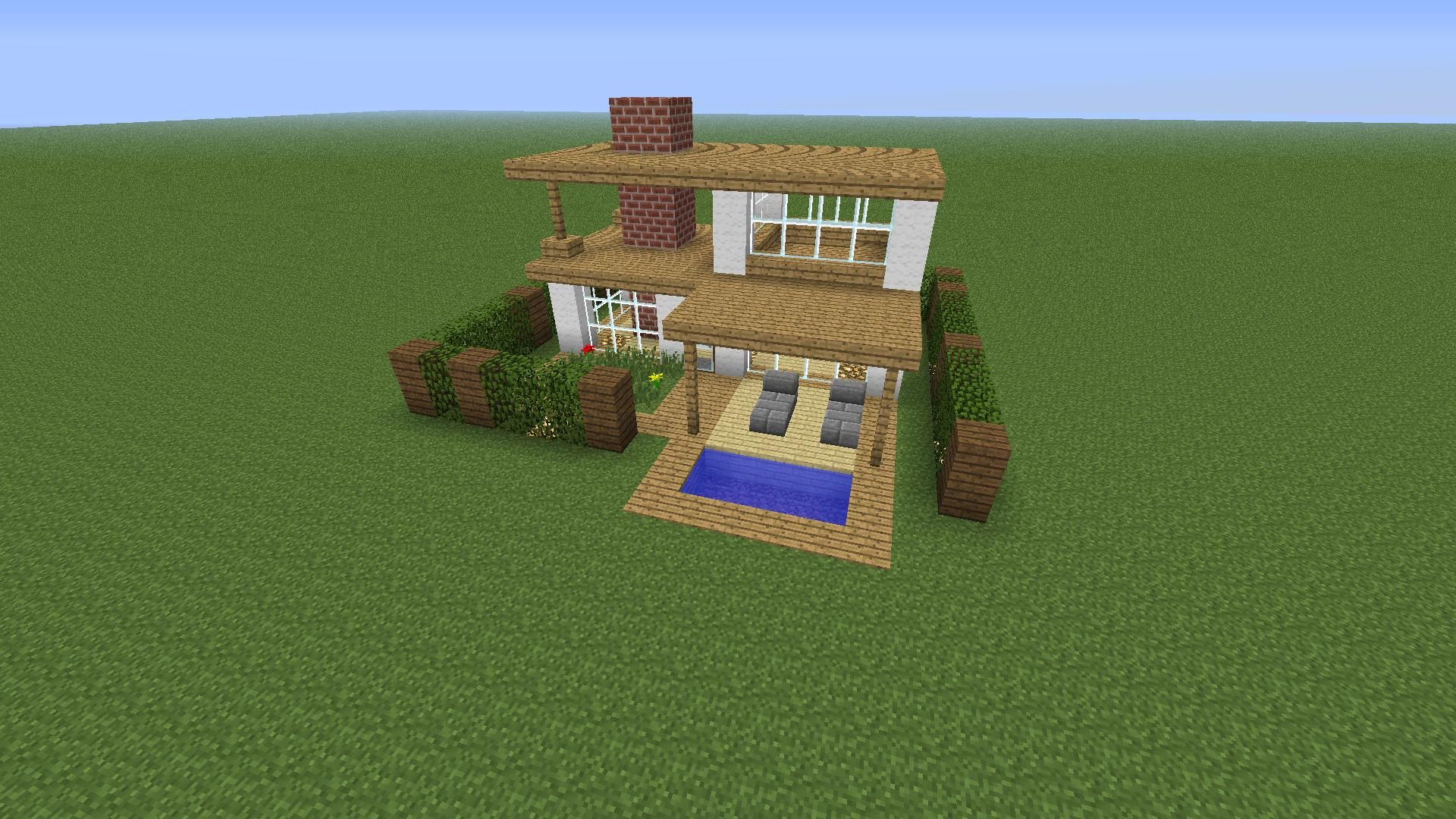 A modern minecraft house that I could probably pull off ...