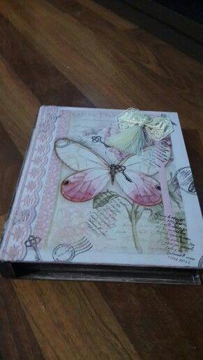 Ahşap Boyama Kitap Kutu Arzu Hobim Books Decoupage Ve Hands
