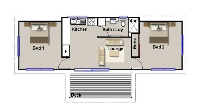2 bedroom transportable hoem design great pin for oahu architectural design visit http - Architectural plan of two bedroom flat ...