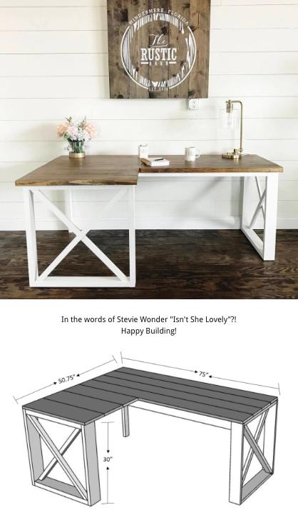 L Shaped Double X Desk Diy Desk Plans Diy Furniture Diy Office Desk
