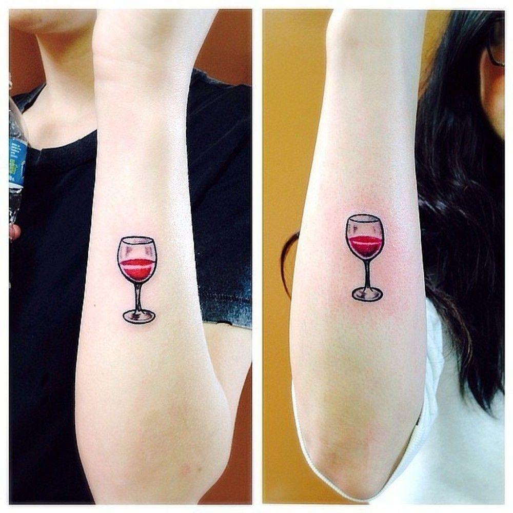 Wine Friends Tattoos Tattoos Bff Tattoos Food Tattoos