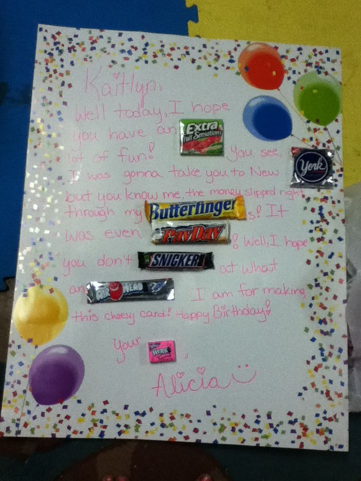 DIY birthday card with candy! Quick and easy!