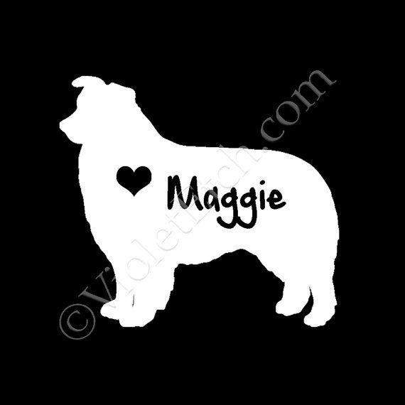 Australian Shepherd Decal-Dog Breed Decal-Car Window Decal-Pet Gift ...