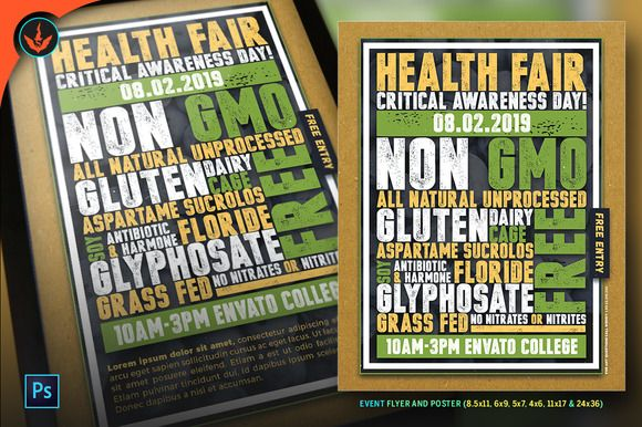 Health Fair Flyer and Poster by SeraphimChris on creativemarket