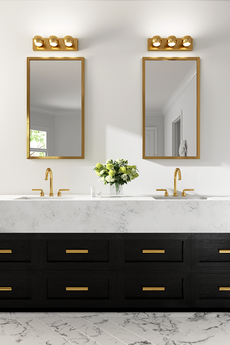 The Oko Bath Fixture By Tech Lighting Features A Contemporary Yet Whimsical Look Adding Lots Of Charact Unique Bathroom Vanity Unique Bathroom Bathroom Sconces