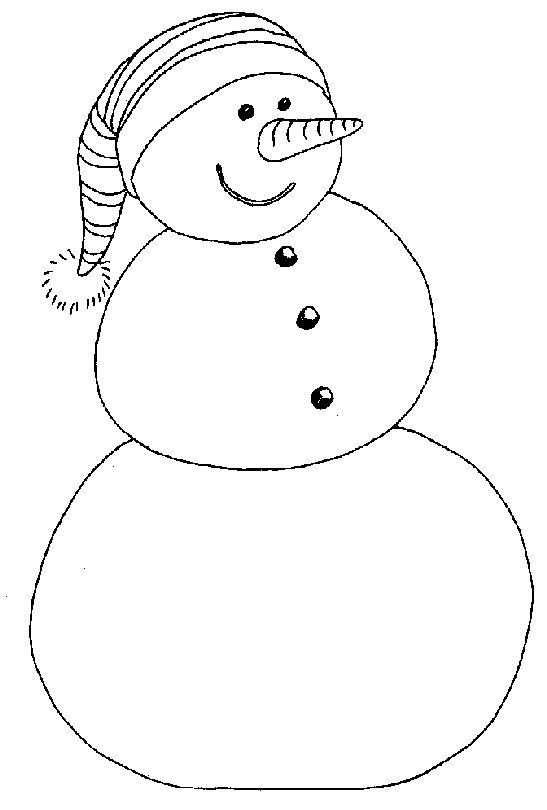 Snowman Coloring Page Printable Christmas Coloring Pages