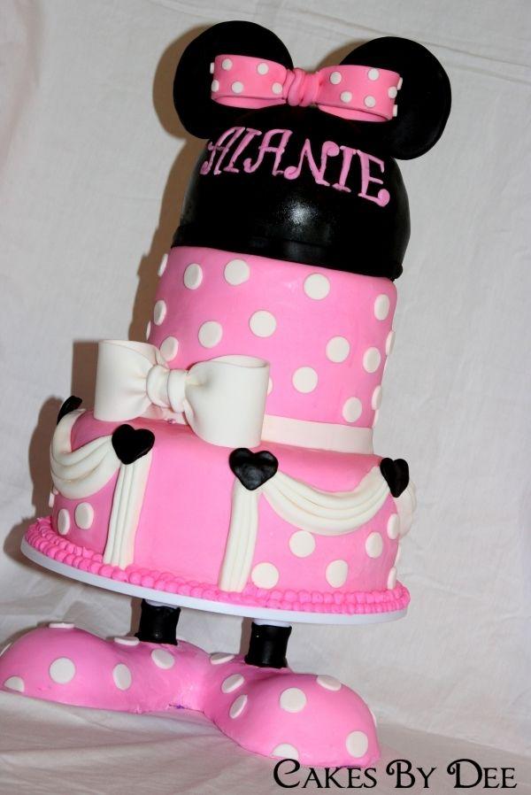 Minnie Mouse Birthday Cake & Minnie Mouse Birthday Cake | Cake! Let them Eat Cake!! | Pinterest ...