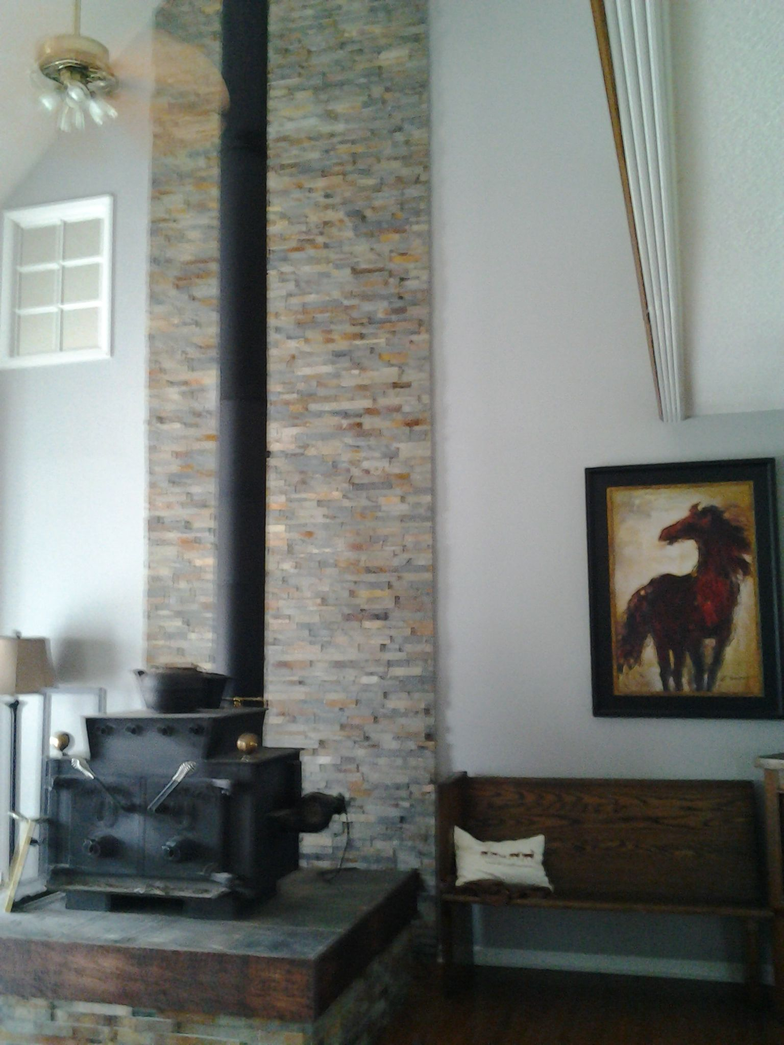Rustic Accent Walls In Living Room