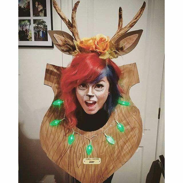 My homemade deer trophy costume!  sc 1 st  Pinterest & My homemade deer trophy costume! | Halloween | Pinterest | Costumes ...