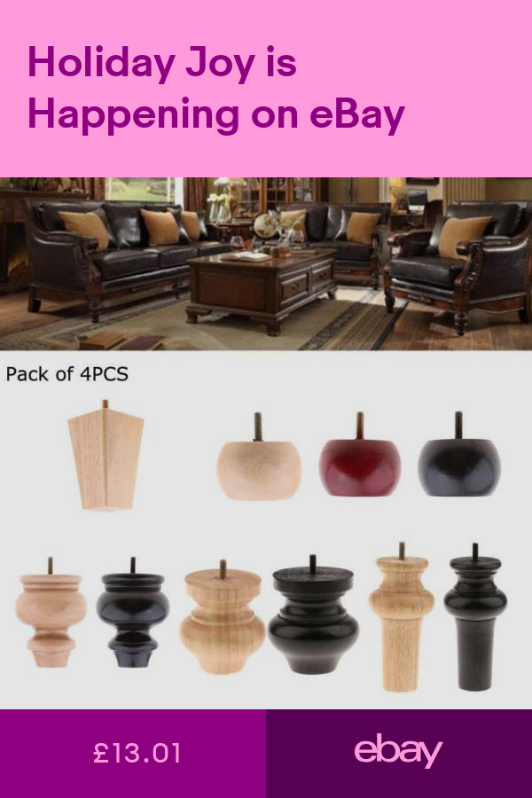 4 Pieces Solid Wooden Furniture Legs Extenders For Sofa Couch Chair Bed Leg Feet Wood Furniture Legs Furniture Legs Furniture Feet