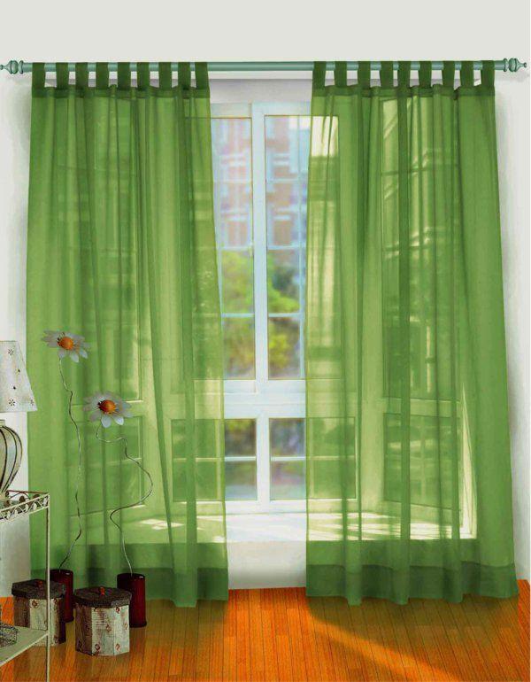 Gardinen Vorhänge Luftig Leicht Grün Wohnzimmer