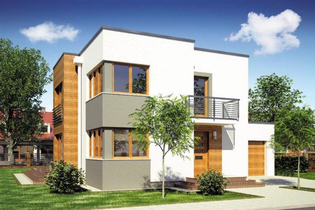 Plano De Casa De 2 Pisos Con Cochera Y Balcones Fachadas De Casas Modernas Fachada De Casa Planos De Casas