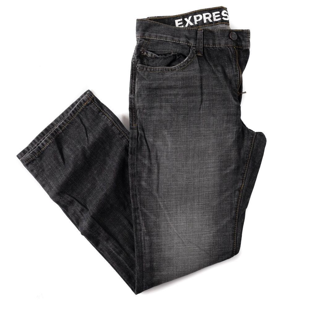 Mens black low rise boot cut jeans