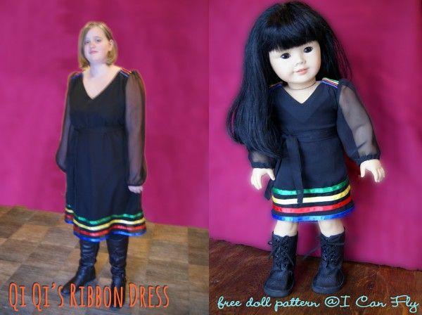 Free Pattern - Qi Qi's Ribbon Dress - I Can Fly